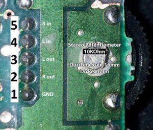 Gameboy Potentiometer Lautstärkeregler
