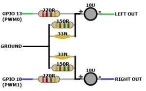 PWM Tiefpassfilter Raspberry Pi Zero Schematic